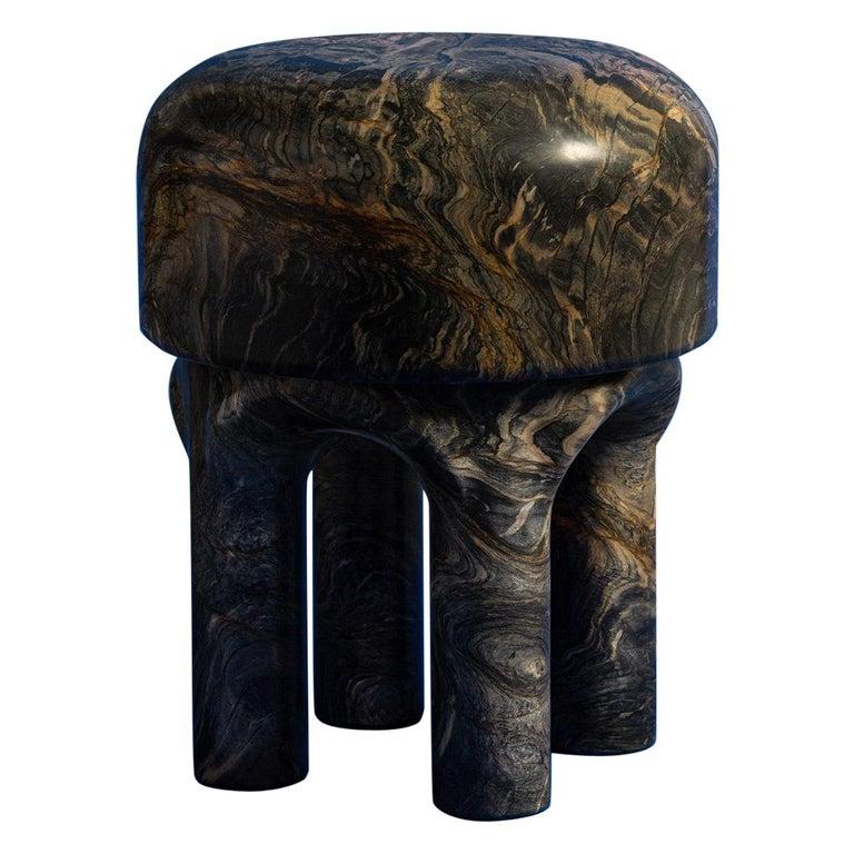 Spinzi  Medusa side table / stool dark marble  For Sale