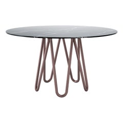 Meduse Dining Table with Marquinia Marble Top by GamFratesi