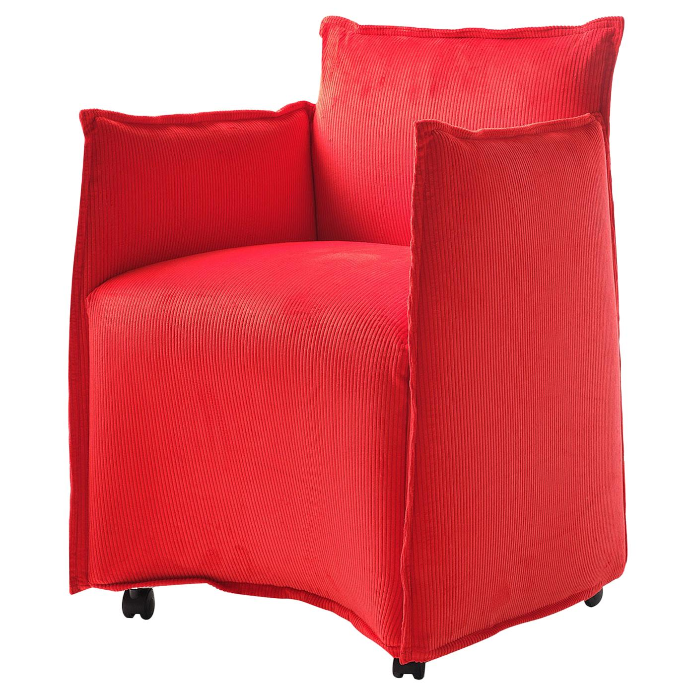 Medven Red Armchair by Alberto Colzani