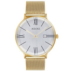 Meek Stainless Steel Gold Mesh Band Wristwatch