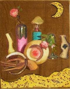 """""""Banana Moon"""" Abstract Still Life Painting"""