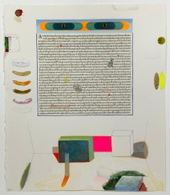 Parable IV, Collage of Cut Text with Abstract Geometric Shapes