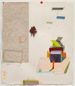 When You Wish Upon a Star, Collage of Text on Paper with Geometric Shapes