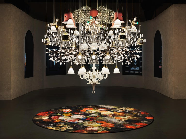 The Mega chandelier is a custom made lighting composition made of a unique selection of lamps from the Moooi collection.