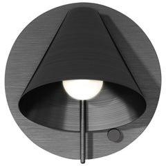 Mega Circle Sconce in Satin Blackened Brass by Matter Made