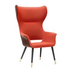 Megan Orange Bergère Armchair by Carlesi & Tonelli