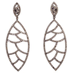 Meghna Jewels Bora Bora Earrings in Champagne Diamonds