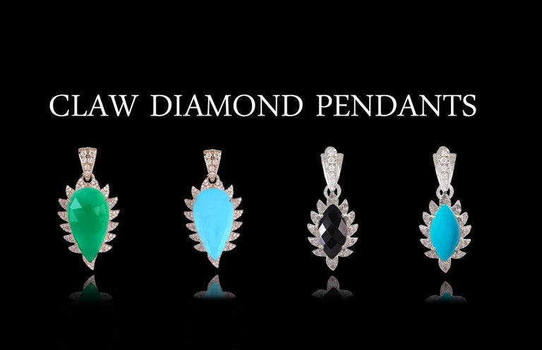 Women's Meghna Jewels Bora Bora Statement Earrings Rubelite and Diamonds For Sale