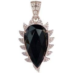 Meghna Jewels Claw Black Onyx Diamonds Pendant