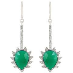 Green Onyx Diamond Meghna Jewels Earrings