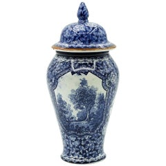 Mehlem Blue Vase by Franz Anton Mehlem, 1900