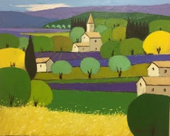 Country Chapel, Oil Painting on Canvas