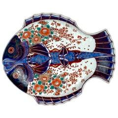 Meiji Imari Fish Plate, by Fukagawa V