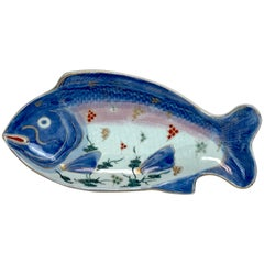 Meiji Imari Fish Plate, by Fukagawa VIII