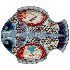 Meiji Imari Fish Plate I