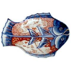 Meiji Imari Fish Plate II