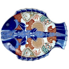 Meiji Imari Fish Plate IV