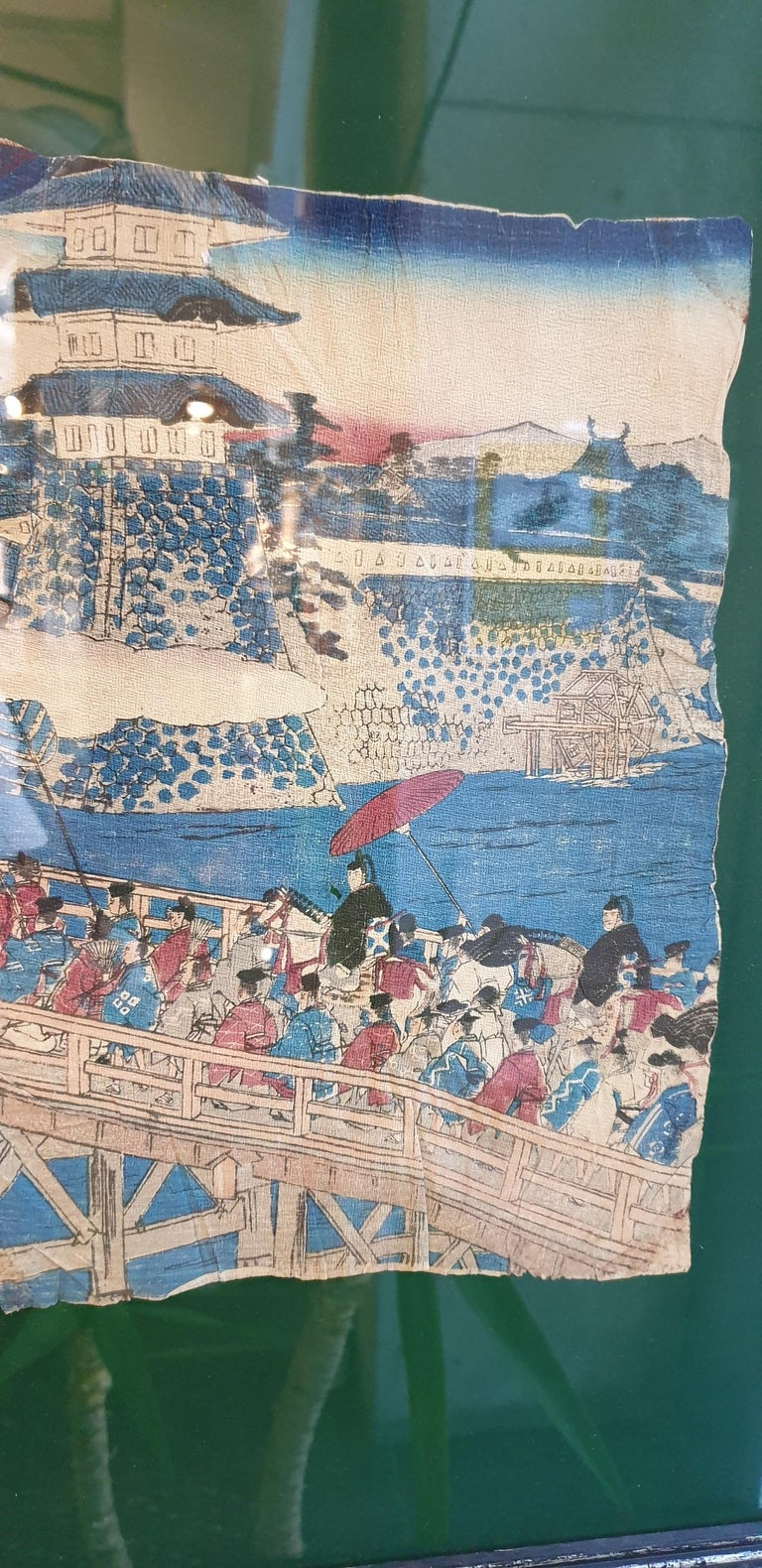 Meiji Japanese Couple of Drawings on Crepon Paper, circa 1890 For Sale 6
