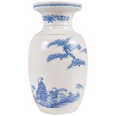 Meiji Period Hirado Blue and White Vase