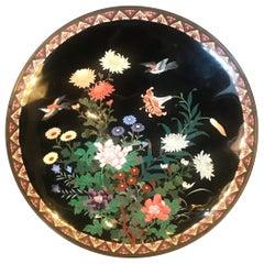 Meiji Period Japanese Cloisonné Charger