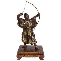 Meiji Period Japanese Miyao Bronze Archer