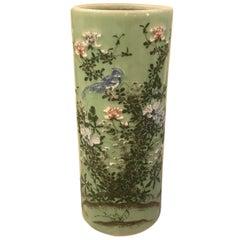 Meiji Period Japanese Porcelain Umbrella Stand