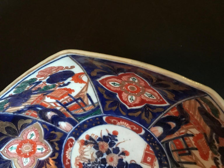 Meiji Period Large Japanese Imari Bowl Centerpiece For Sale 5