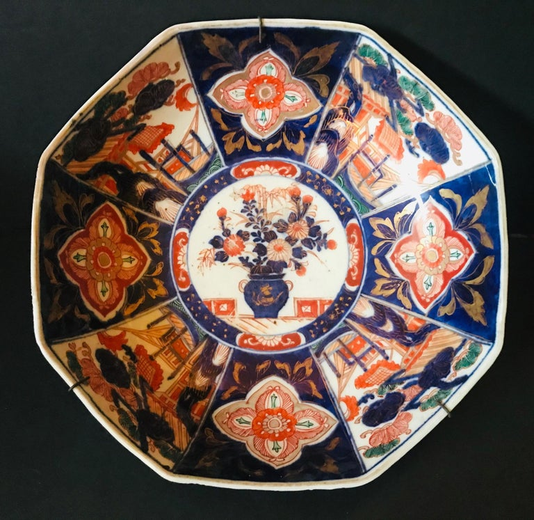 Meiji Period Large Japanese Imari Bowl Centerpiece For Sale 6