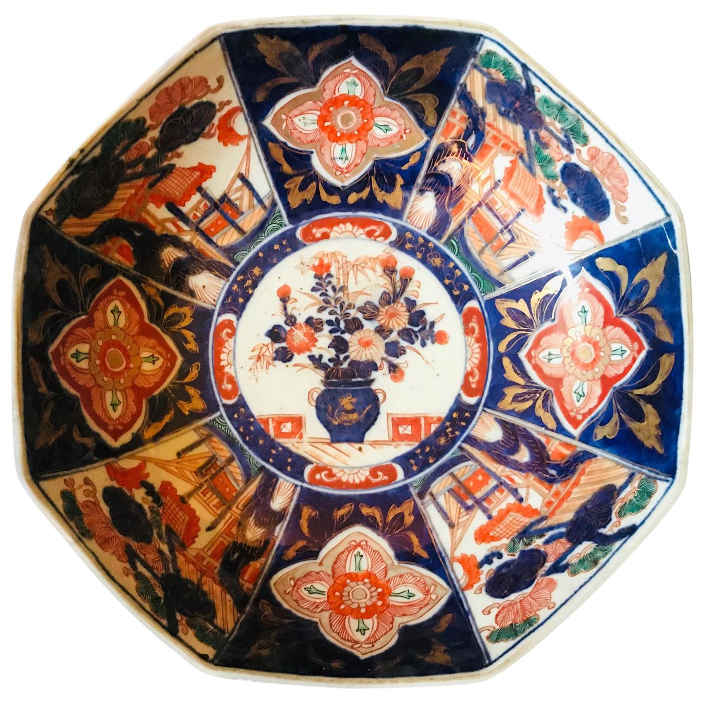 Meiji Period Large Japanese Imari Bowl Centerpiece