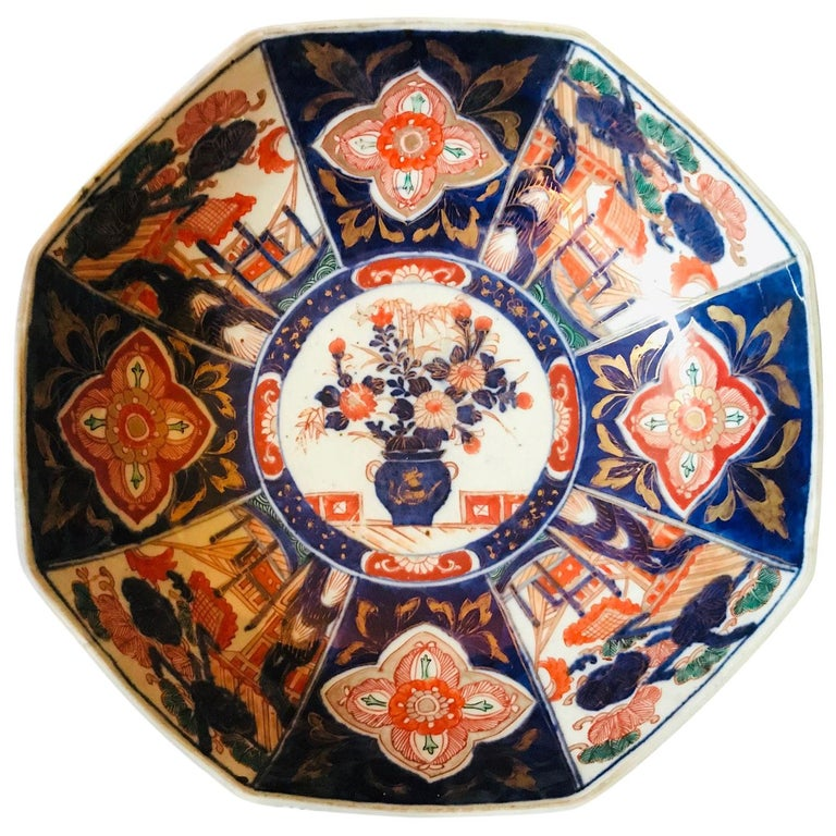 Meiji Period Large Japanese Imari Bowl Centerpiece For Sale