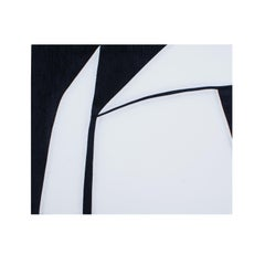 Just a Phase (textile art black and white minimalist fabric abstract geometric