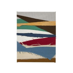 The Troubadour (textile stripes art colorful stripes fabric abstract geometric)
