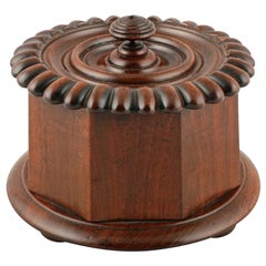 Mein of Kelso Mahogany Tobacco Caddy, 19th Century