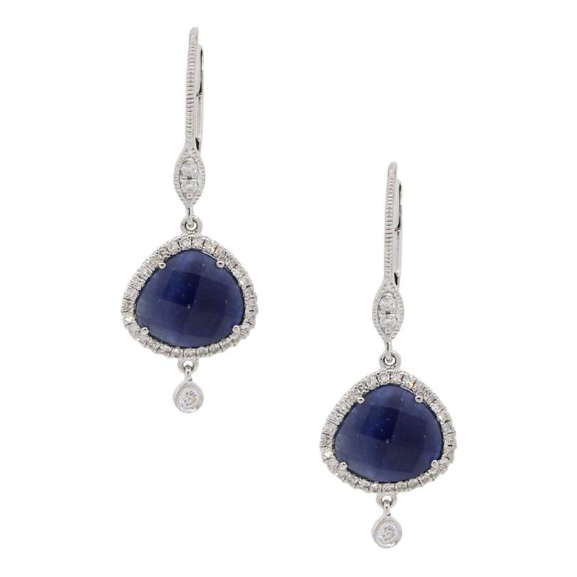 Meira T Sapphires and Diamond Drop Earrings