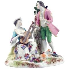 Meissen 19th Century Porcelain Figural Group