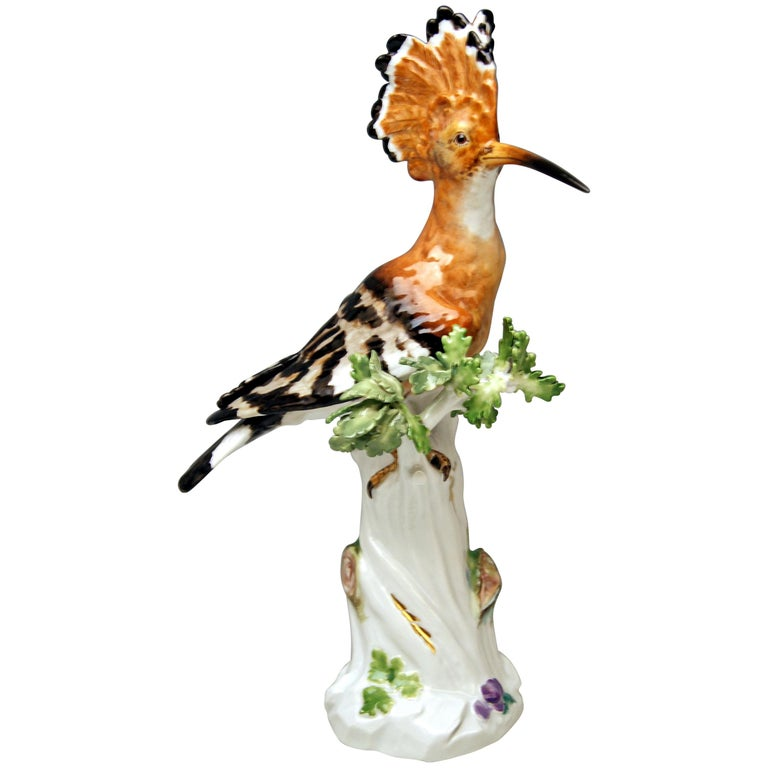 Meissen Animal Figurine Hoopoe Bird Model 278 Kaendler Made circa 1850