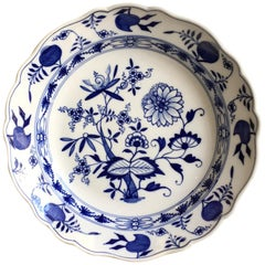 Meissen Blue Onion Porcelain Plate with 1815 Marks and Provenance
