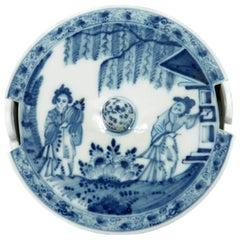 Meissen Butter Tub, Chinoiserie in Underglaze Blue, circa 1735