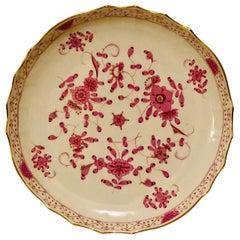 Meissen Cake or Round Platter in The Meissen Purple Indian Pattern