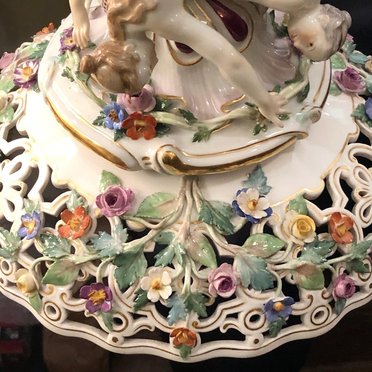 Meissen Centerpiece Depicting the Three Charities or Graces Dancing in a Circle For Sale 12