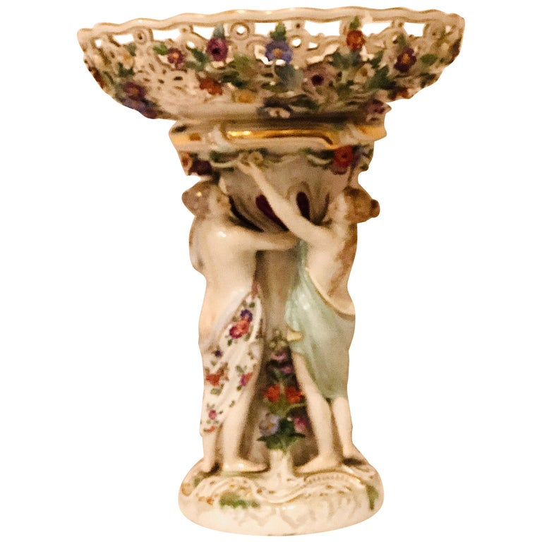 Meissen Centerpiece Depicting the Three Charities or Graces Dancing in a Circle For Sale