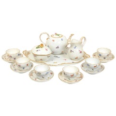Meissen Classic Scattered Flowers 10 Piece Tea Set, Late 19thc/Early 20th C