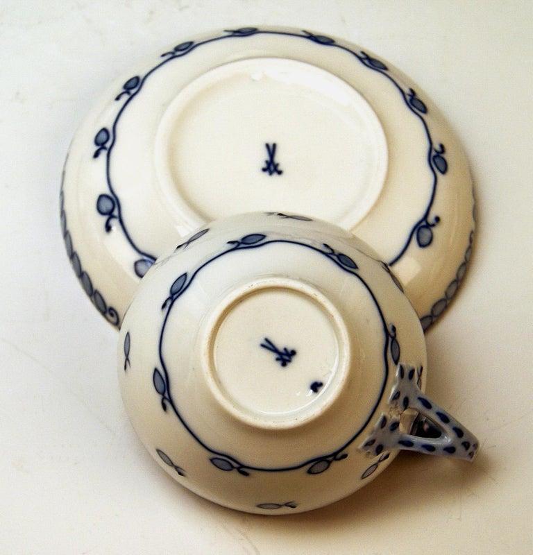 Meissen Coffee Set Decor Blue Panicle Blaue Rispe Richard Riemerschmid For Sale 2