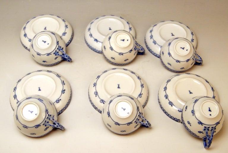 Meissen Coffee Set Decor Blue Panicle Blaue Rispe Richard Riemerschmid For Sale 1