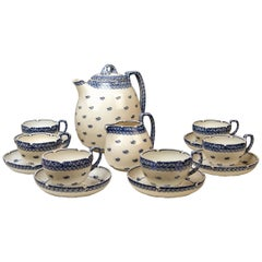 Meissen Coffee Set Decor Blue Panicle Blaue Rispe Richard Riemerschmid