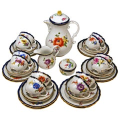 Meissen Coffee Set Bouquet Nr. 051110 12 Persons Pfeiffer Period 1924-1934