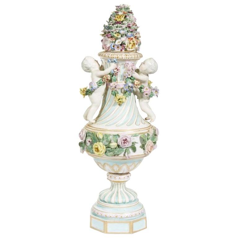 Meissen Covered Figural Vase, 1774-1815 B For Sale