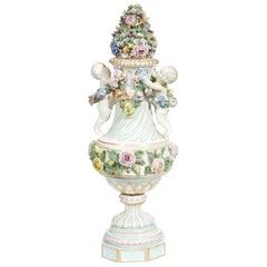Meissen Covered Figural Vase, 1774-1815