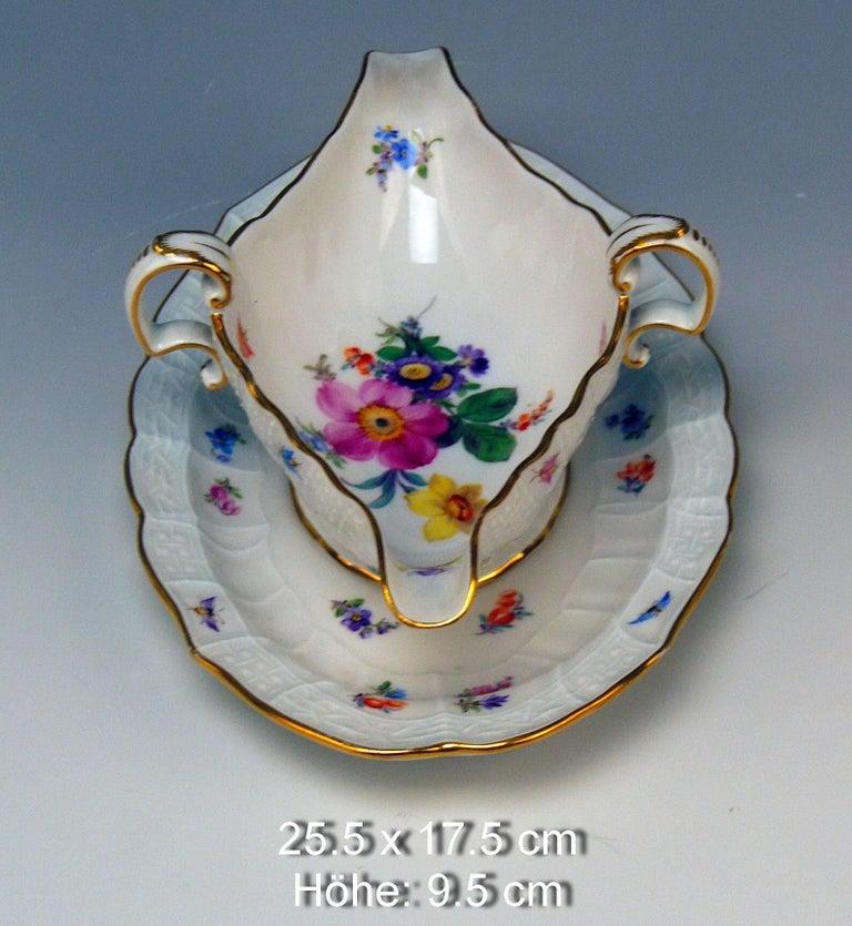 Porcelain Meissen Dinner Service Set Neubrandenstein 6 Persons Kaendler Eberlein 23 Parts For Sale