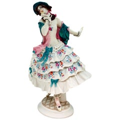 Meissen Figure 'Estrella' from the Russian Ballet 'Carnival' by Paul Scheurich